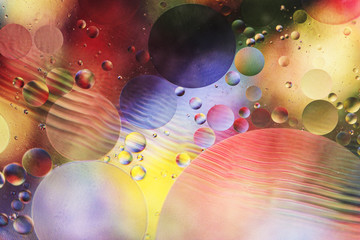 An artful colorful background with bubbles.