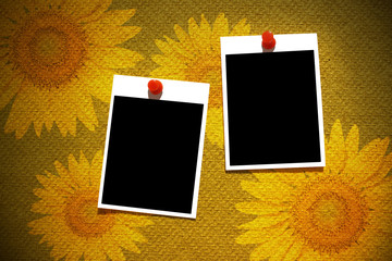 Vintage blank  photo frame