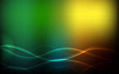 Background design with green and yellow lights