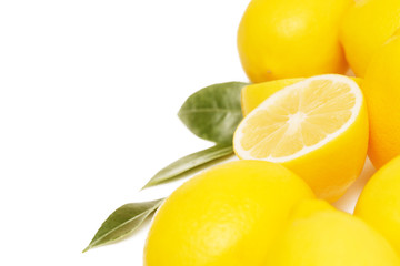 Lemon, studio image on white