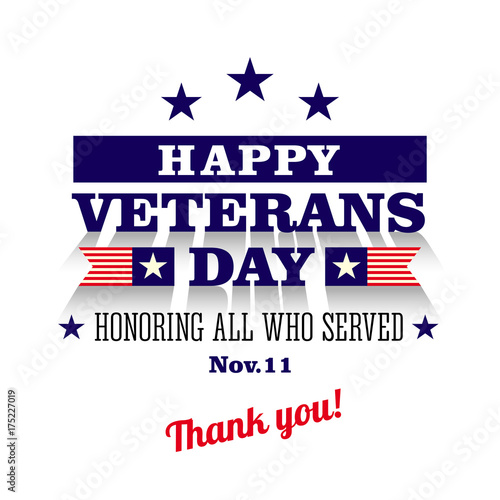 Happy veterans day greeting card stock image and royalty free happy veterans day greeting card m4hsunfo