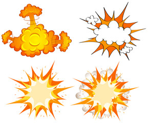Four design of cloud explosions