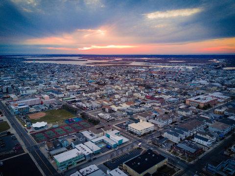 Aerial of Wildwood NJ