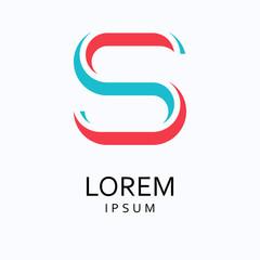 S Letter Logo. Vector Icon