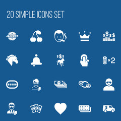 Set Of 20 Editable Business Icons. Includes Symbols Such As Currency Camion, Money, Stallion And More. Can Be Used For Web, Mobile, UI And Infographic Design.