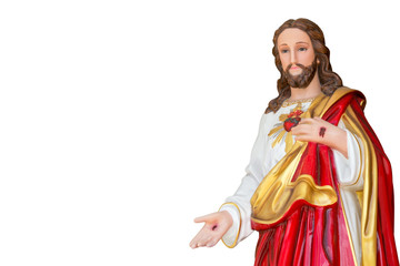 Jesus on a white background