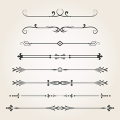 Dividers- calligraphic elements