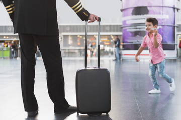Pilot locating in airport near son