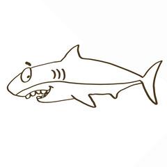 cute shark coloring