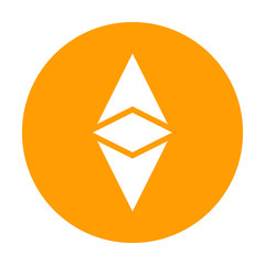 Ethereum Classic icon for internet money. Crypto currency symbol. Blockchain based secure cryptocurrency. Vector