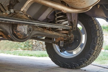 Suspension of an offroad vehicle