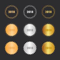 2018 - Frohes Neues - Bronze, Silber, Gold Medaillen