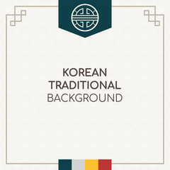 Korean traditional background vector illustration.
