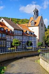 Bad Salzdetfurth mit St. Georgs Kirche an der Lamme, Niedersachsen, Deutschland