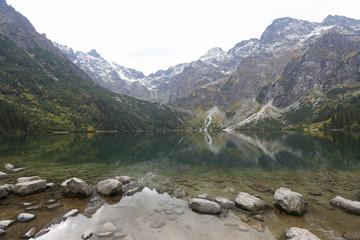 A view on beautiful mountain lake