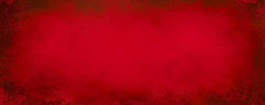 Red Christmas background with black grunge texture on border