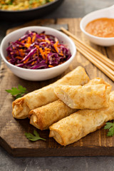 Egg rolls with cabbage and chicken