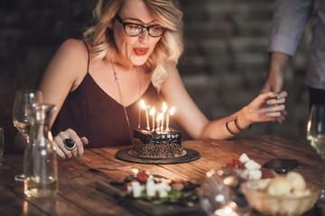 Pretty Woman Celebrating Birthday