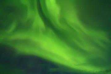 Aurora borealis in northern sky