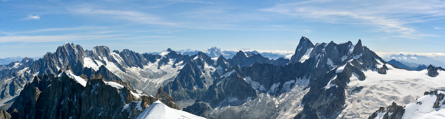 Foto op Canvas Alpen Beautiful Alps as seen from Aiguille du Midi