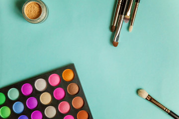 make-up palette and tools