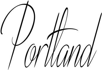 Portland text sign illustration