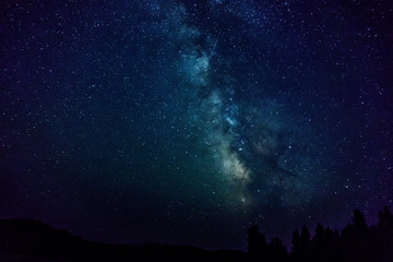 Galaxy Star in the night at Lassen National Park