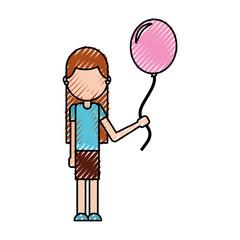 school happy girl holding balloon celebration teacher day