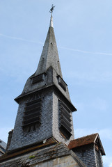 Bell tower of the Church of Saint Catherine, Honfleur, France.