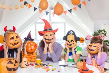 kids on Halloween party