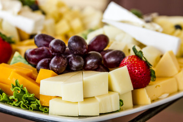 Fruit and Cheese Tray on Display