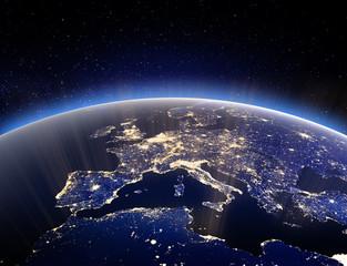 World globe - planet Earth. 3d rendering