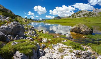 Lago di Valparola, Dolomites, Italy