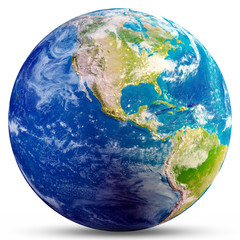 Wall Mural - Planet Earth - America 3d rendering