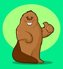 Beaver Mascot/Illustration of a friendly beaver mascot