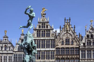 Poster Antwerpen Antwerp - Belgium - Statue of Silvius Brabo
