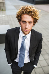 Portrait of young man in suit