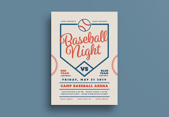 Baseball Event Flyer Layout 1