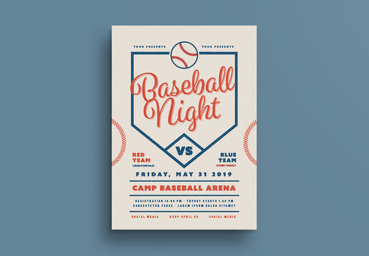 Baseball Event Flyer Layout 1
