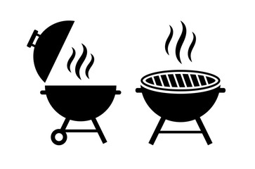 Outdoor grill vector icon