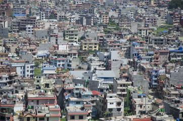 View of the houses of Kathmandu, Nepal
