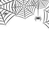 Halloween Spider Web Horizontal Vertical Background 1