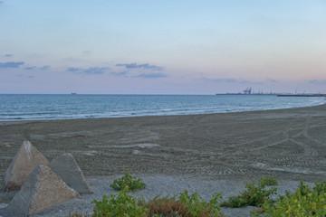 The beach of Castellon in the Valencian community, Spain