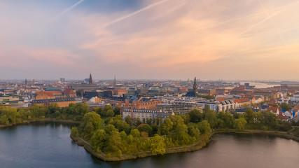 Morning skyline of Copenhagen, Denmark
