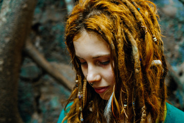 Hippie girl portrait