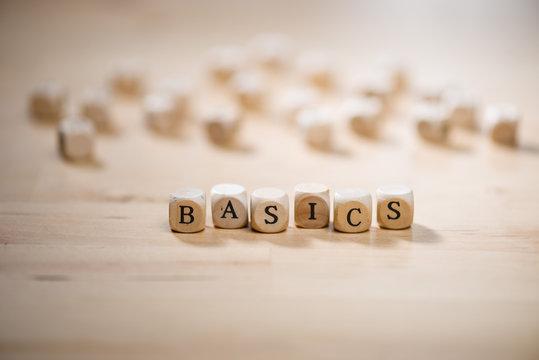 Basics word on blocks. Basic concept.