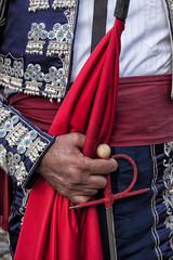 Detail of a bullfighter costume in Madrid, Spain