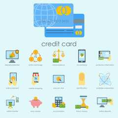 Money finanse banking safety icons business currency card deposit payment vector illustration.