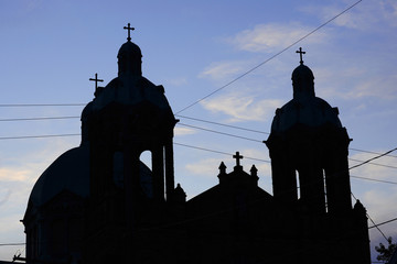 church towers with crosses