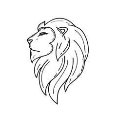 Head lion art